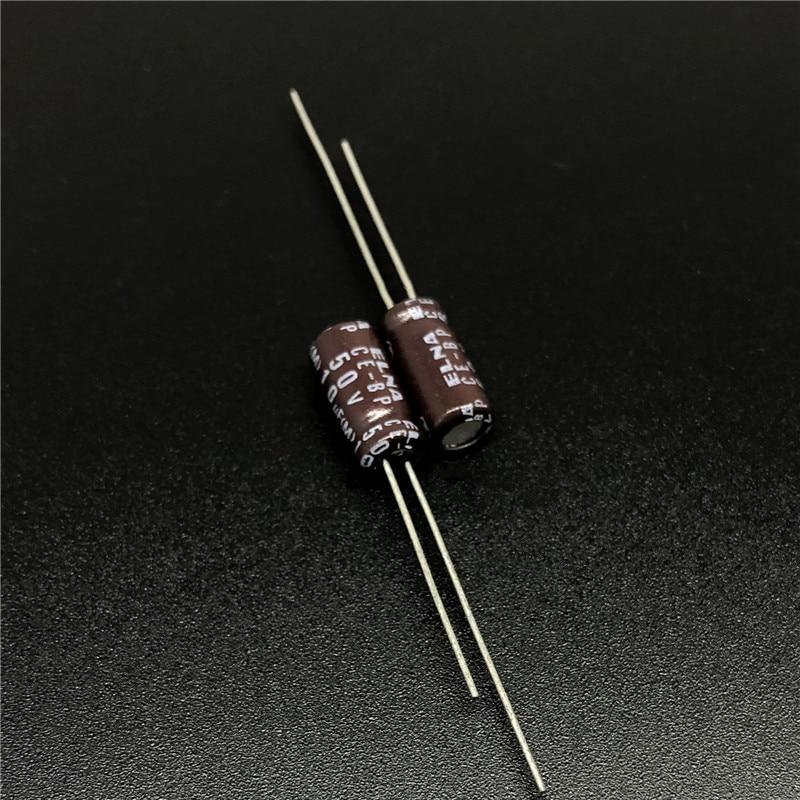 10pcs/100pcs 10uF 50V ELNA CE-BP 5x11mm 50V10uF Bipolar Audio Capacitor Brown