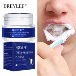 BREYLEE Teeth Whitening Powder Remove Plaque Stains Toothpaste Dental Tools White Teeth Cleaning Oral Hygiene Toothbrush Gel 30g