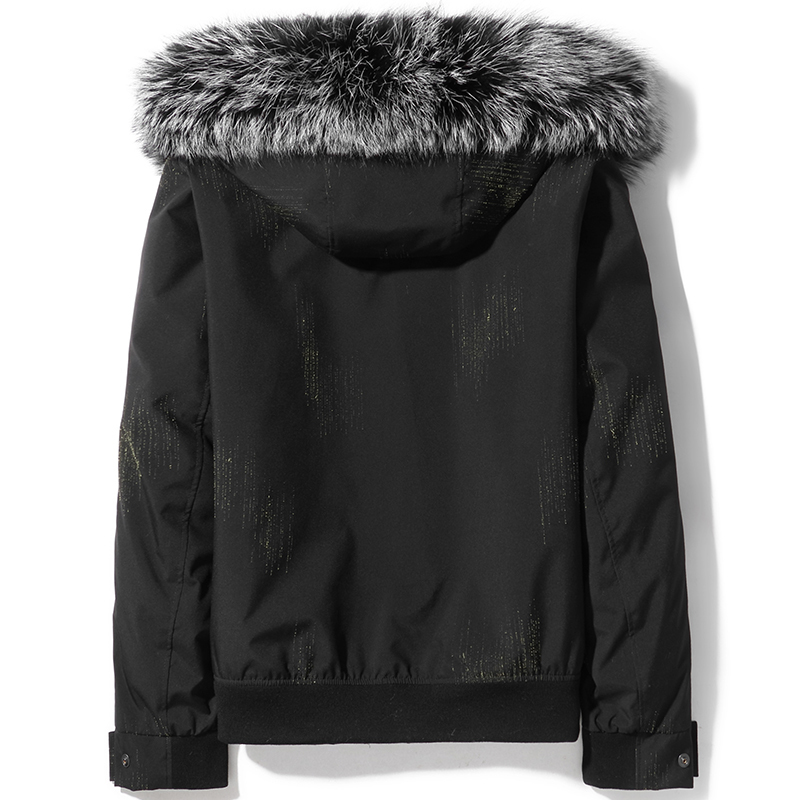Winter Real Fur Coat Men Parka Mink Fur Liner Fox Fur Collar Short Mens Mink Jackets Parkas De Hombre D14AXC902 KJ3748