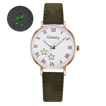 2021 NEW Women Watches Simple Vintage Small Watch Leather Strap Casual Sports Wrist Clock Dress Wristwatches Reloj mujer - G666-GN