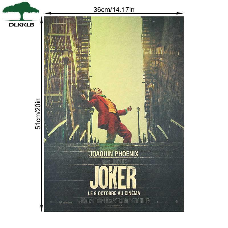 DLKKLB Neue Film Poster Joker Kraft Papier Batman der Feind Vintage Stil DC Wand Aufkleber 51x36cm Hause schlafzimmer Dekorative Malerei