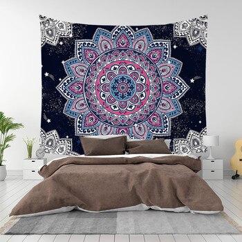 New Mandala Series Tapestry Wall Hanging Printing Beach Towel Mat Polyester Thin Blanket Yoga Mat Shawl Mat Carpet Home Decor janeyu new cosmos star velvet multifunctional polyester tapestry hanging beach towel