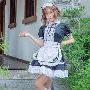 2021 vestito da cameriera da donna dolce gotico Lolita abiti Anime Cosplay Costume grembiule uniformi Plus Size costumi di Halloween