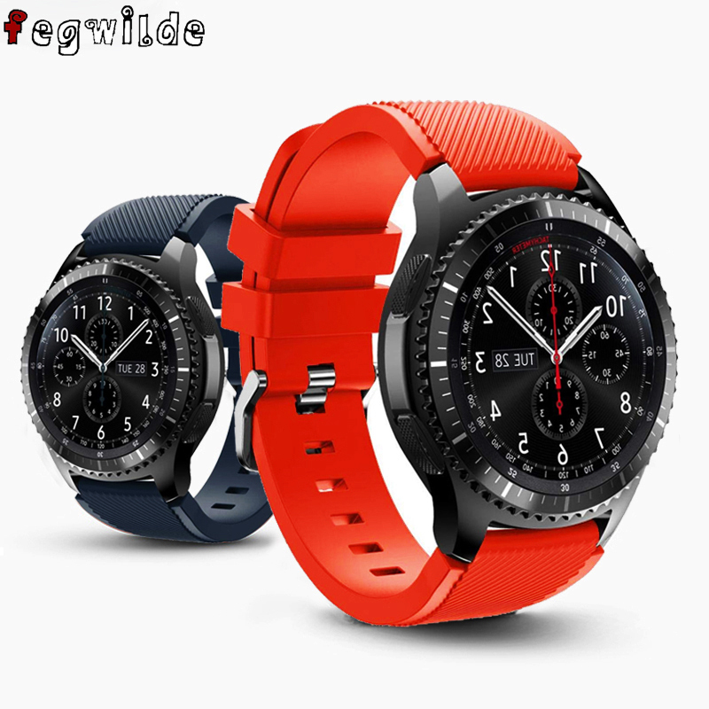 Strap For Samsung Gear S3 Frontier Galaxy Watch 46mm 42mm Gear Sport S2 20/22mm Watch Band Silicone Bracelet Smart Watchband S3