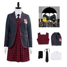 Uniforme Escolar de la Academia paraguas para niñas, conjunto de falda de la Academia de la guerra de las galaxias, disfraz de Cosplay, Halloween, Carnaval, trajes de fiesta, 6 uds.