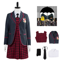 Cosplay Costume Skirt-Set The-Umbrella Academy Carnival Party-Suits School-Uniform Halloween