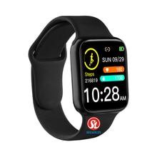 90% zniżki 38mm inteligentny zegarek tętno ciśnienie krwi Bluetooth mężczyzna kobieta Smartwatch dla Apple zegarek Android telefon IWO wodoodporny