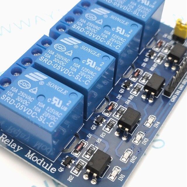 Module de relais 4 canaux DC5V carte de commande de relais avec optocoupleur pour Arduino PIC bras DSP AVR framboise Pi