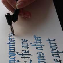 Nowe wieczne pióro do kaligrafii rysunek Dip Ink 5 sztuk stalówka zestaw długopisów podpis pisanie antyczne eleganckie prezenty