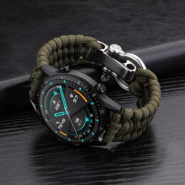 20 22mm Strap for Samsung Galaxy Watch 3 41mm 45mm Watch Band 42mm 46mm for Huawei Watch GT 2e Adjustable Buckle Rope Bracelet 2