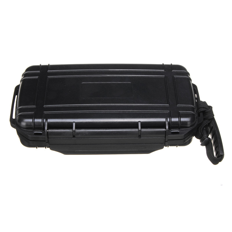 Black Cigars Storage 5 Cigar In Box With Sponge Lined Waterproof Shockproof Dustproof For Outdoor Travel Pack Smoking Accessory