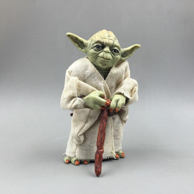 Star Wars Monster Yoda Darth Vader Action Figure Doll Toys The Force Awakens Jedi Master Yoda Anime Figures Lightsaber 1