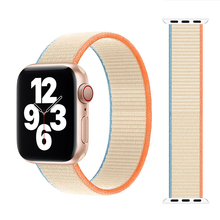 Braided Solo Loop Nylon Breathable Strap For Apple Watch band 44mm 40mm 38mm 42mm Elastic Bracelet for iWatch Series 6 SE 5 4 3