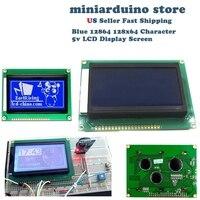 12864 128x64 pontos gráfico cor azul backlight display lcd módulo para arduino