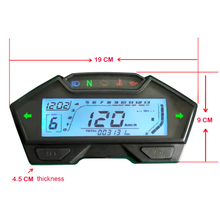 Universal DIY LCD Motorcycle Speedometer Odometer Tachometer Fuel Level Display Left and Right Indicator Motorbike
