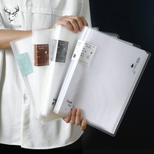 Прозрачная папка 80 страниц полипропиленовый пакет для документов