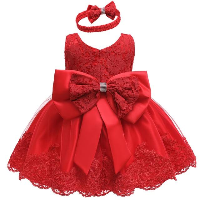 Noworodka ubrania dla niemowląt sukienki dla dziewczynek wesele księżniczka sukienka dla dzieci koronki 1 rok urodziny Vestidos 3 12 18 24 miesiąc