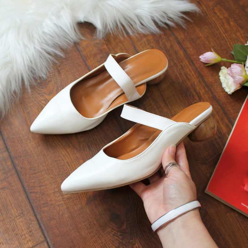 RIZABINA Mùa Hè Nữ Dép Nữ Mũi Nhọn Đàn Lạ Gót Gợi Cảm Slingback Quai Giày Xăng Đan Nữ Nữ Giày Size 34-43