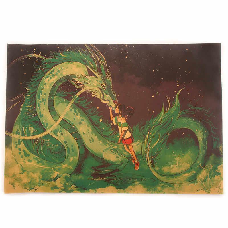 Muursticker Behang Mural Beroemde Hayao Miyazaki Poster Anime Spirited Away Een Stuk Poster Decoratieve Schilderkunst wandtattoo