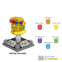 Avengers 4 Iron Man Thanos Infinity Gauntlet Con 36Pcs Pietre Figures Building Blocks Giocattoli Per I Bambini Legoed Super Heroes(China)