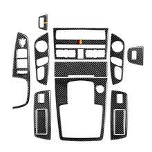 الكربون الألياف وحدة CD لوحة الديكور والعتاد التحول غطاء تقليم لأودي Q7 2008 2015 الداخلية الباب مسند ذراع أزرار إطار ملصقا