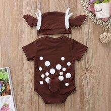 Deer Baby Clothes Infant Baby Boy Girl Cartoon Deer Romper+l