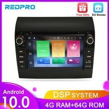 Lecteur DVD de voiture android 10.0, 4 go RAM, avec GPS, Autoradio stéréo, Octa Core, headuni, pour Fiat Ducato citroën Jumper, PEUGEOT Boxer