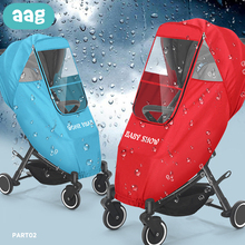AAG Windproof Warm Baby Stroller Raincoat Pram Accessories  Stroller Raincover Window Canopy Child Cart Waterproof Rain Cover