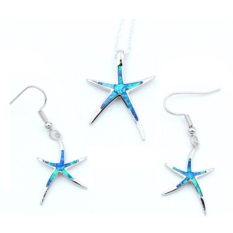 Ожерелье и серьги в виде морской звезды