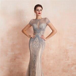 Image 5 - Robe De soirée luxueuse, Sexy, luxueuse, Robe De soirée, perles, cristaux, Photos réelles, WT5553, nouvel arrivage