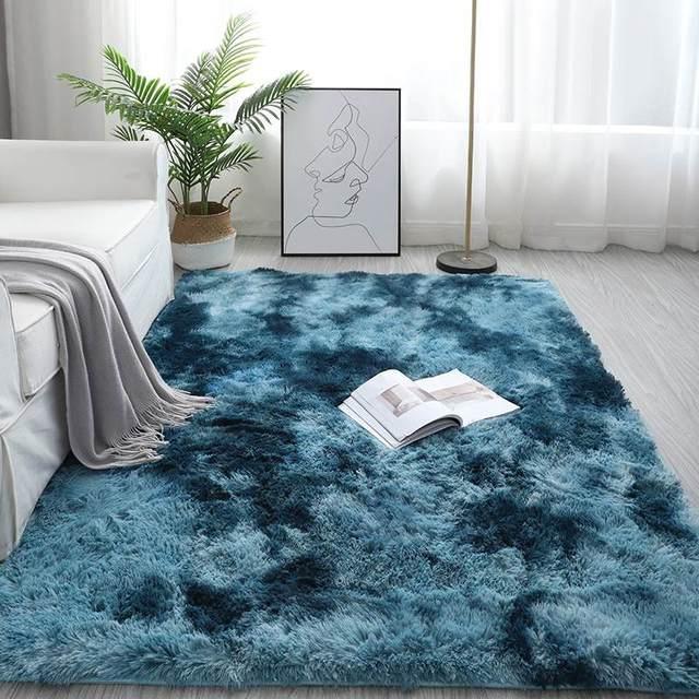 Bedroom Carpets Modern Art Living Room Carpets Home Nordic Bedroom Bedside Blanket Area Rug Large Soft Study Room Floor 1