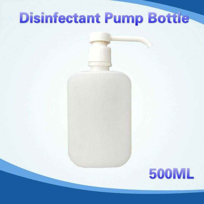 500ml Disinfectant Pump Bottle Thick & Safe Material Dispenser Refillable Container For Water/Essential Oils/bleach