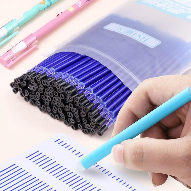 10 Pcs A Set Erasable Pen Core Erasing Handle Transparent Rod For Gel Pens Washable 0.5mm Refill Student Supplies