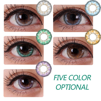Beautiful Pupil Color Contact Lens Monthly Throw Female Path 14.5mm Cute Multicolor Party Gift Cartoon Girl Decoration Cosplay image