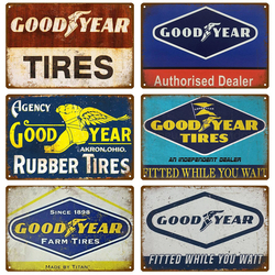 Good Tires Year Metal Sign Garage Motorcycle Tin Sign Plaque Metal Wall Decor Vintage Decor Poster Plates Man Cave Shabby Chic