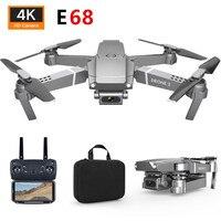 E68 Дрон вертолет HD 4K 1080P камера WIFI FPV широкоугольный режим удержания высоты RC складной Квадрокоптер вес 95 г детские игрушки подарок