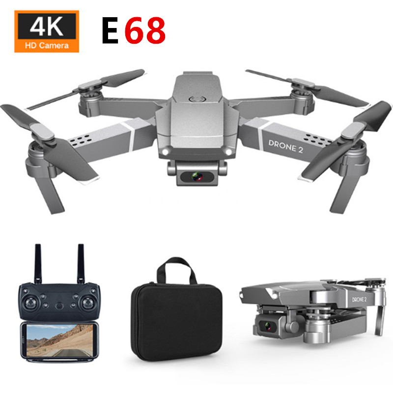 E68 Mini Drone Helicopter HD 4K 1080P Camera WIFI FPV Wide Angle Hight Hold Mode RC Foldable Quadcopter Kids Toys Gift title=