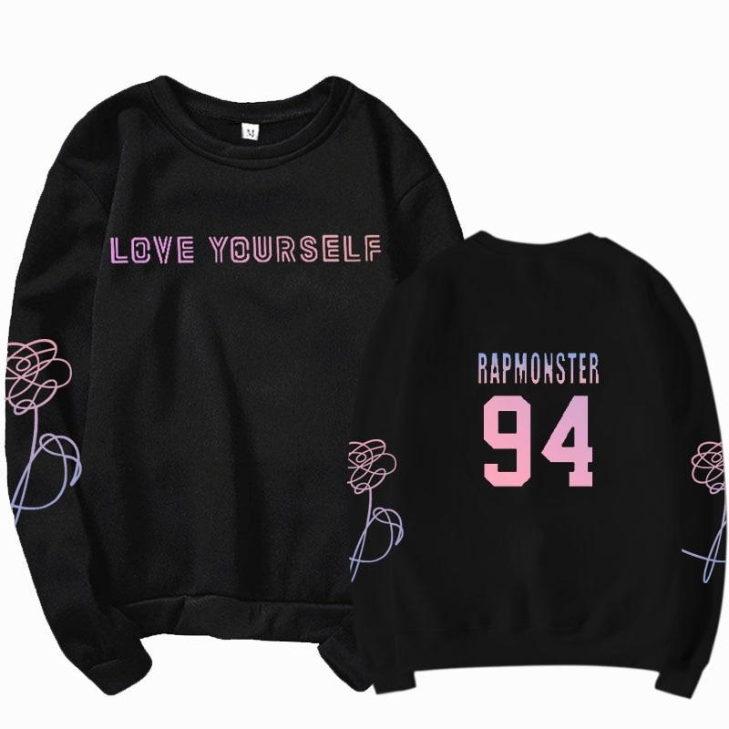jungkook Unisex hoody kpop suga93 hoodies love KPOP weatshirt love yourself KPOP hoody sweatshirt  harajuku hoodies 31