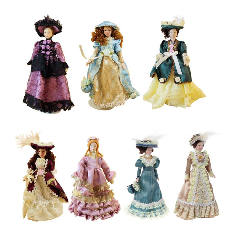 1:12 Miniature Lady Mini Dolls Dollhouse Decoration Accessories