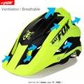 BATFOX в целом литье велосипедный шлем ультра-легкий дорожный шлем «летучая мышь» с рисунком лисы DH AM высококачественный MTB велосипедный шлем ...
