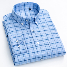 Mens Fashion Brushed Cotton Checkered Plaid Shirt Single Patch Pocket Standard fit Full Sleeve Comfortable Thick Casual Shirts