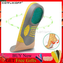 PVC Orthopedic Insoles Orthotics flat foot Health Sole Pad for Shoes insert Arch Support pad for plantar fasciitis Feet Care(China)