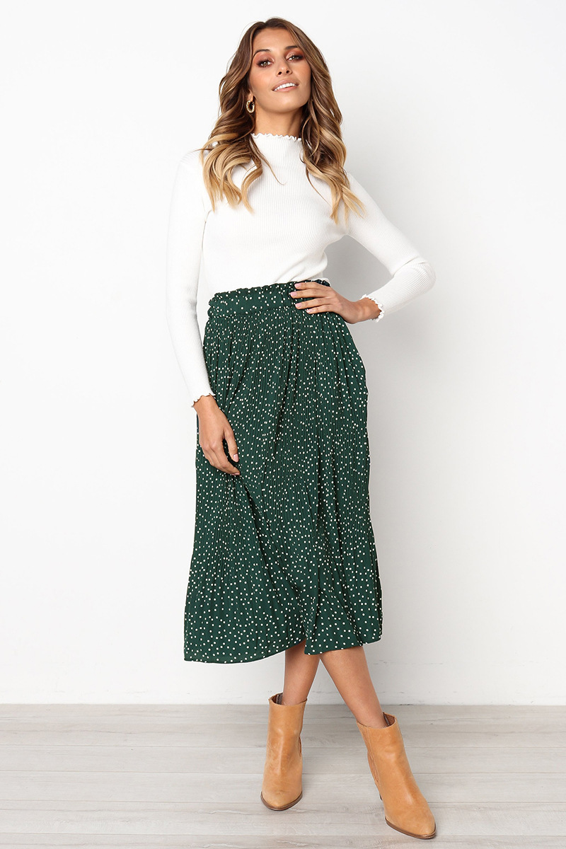 H815dc502961f4c8c91066da55a0027394 - Summer Casual Chiffon Print Pockets High Waist Pleated Maxi Skirt Womens Long Skirts For Women