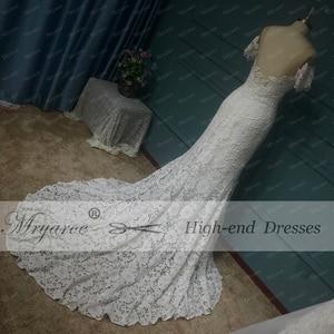 Image 4 - Mryarce 2020 ภาพลวงตาคอปิดไหล่ลูกไม้ Mermaid Love ชุดแต่งงานชุดเจ้าสาว Boho CHIC