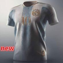 Maradona messi 21 22 novo argentinaes camisa lo celso dybala l. Martinez tagliafico kun aguero di maria ocampos qualidade superior