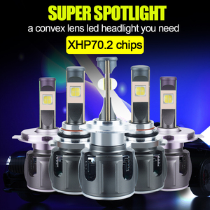 Image 2 - الأصلي XHP70.2 H7 H11 Led Lampada لمبة H4 H1 H8 Led المصباح مصباح Canbus لا خطأ Hb3 9005 9006 LED كشافات الضباب ضوء 6000K