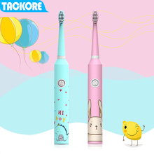TackOre Carton Children Electric Toothbrush Baby teether training tooth brush Sonic battery kids electric Oral Clean