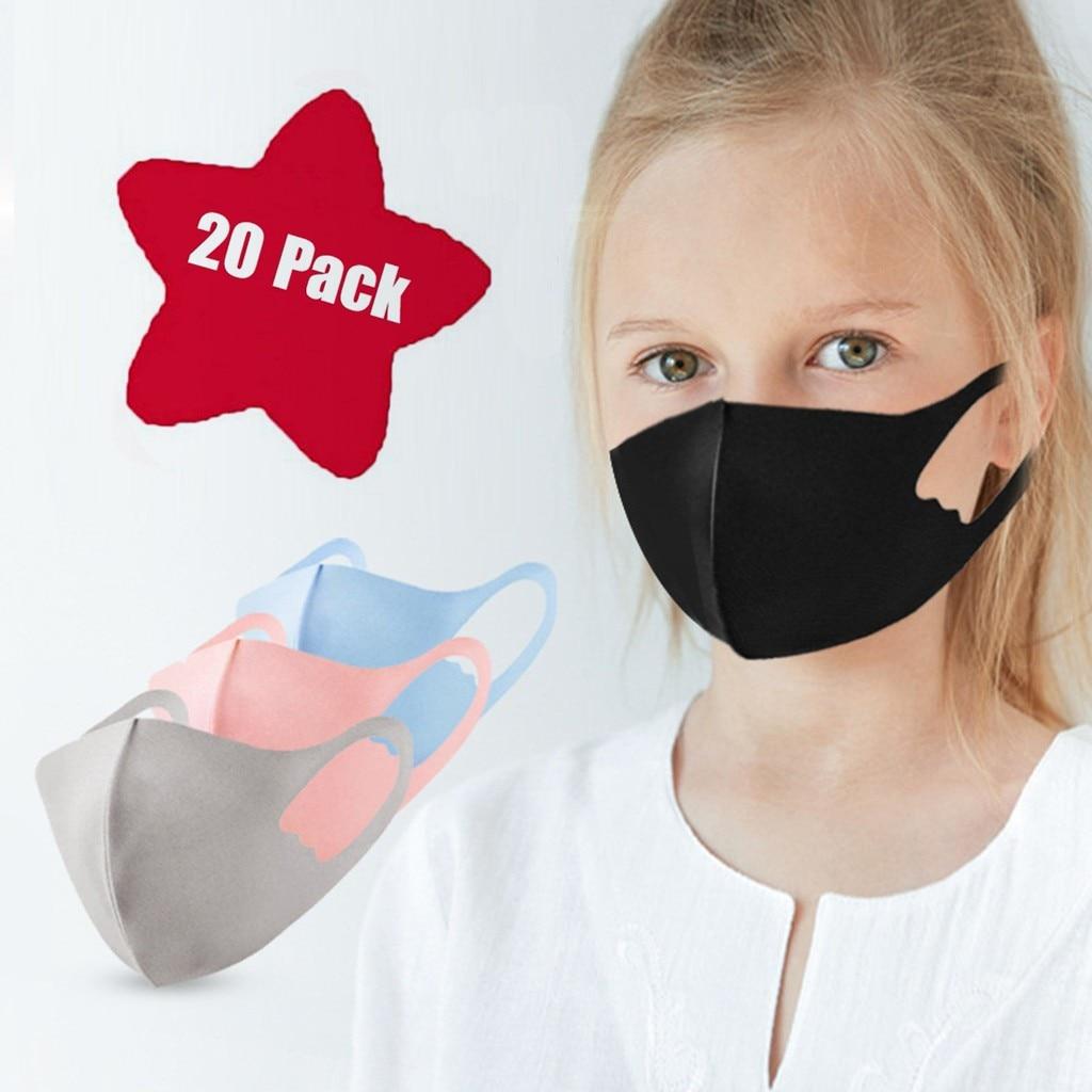 7PC Ice Silk Dustproof Windproof  Cotton Cute Cartoon Children Masks Breathable Respirator Kids Face Mask Mascarillas Masque