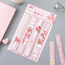 New Cute Kawaii Study Color Multifunctional Cartoon Ruler Creative DIY Drawing Rulers for Kids Students Office School Stationery