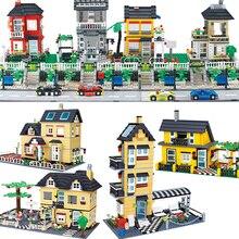 Wange конструктор совместимый с лего городской архитектурной модели столичных строительных комплектов кубики, Детские игрушки Детские кирпичи Франция вилла деревенские наборы